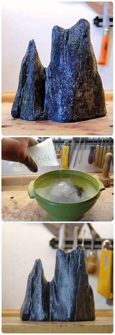 Limpieza de roca con hipoclorito (lavandina)