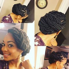 Check Out How I Created This Beautiful Goddess Loc Updo For New Years Style Is Super Easy To Do And Youll Only Need Bobby Hair Pins Your Favo