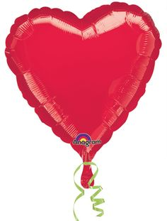 "All  you need it Love! Add this Red Heart Foil Balloon 18"" to share the love at your celebrations! Ideal for Independence Day, weddings, birthdays and more"