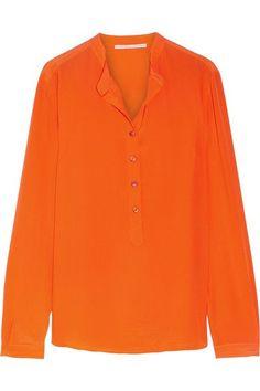 Stella McCartney | Eva silk crepe de chine blouse | NET-A-PORTER.COM