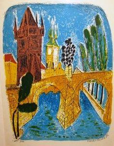 GRAFIKA | Chaba Karel, Karlův most.