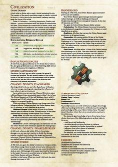 Cleric Domain: Civilisation by IrishBandit