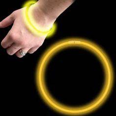 8 Inch Yellow Glow Bracelets from Windy City Novelties