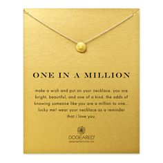 one in a million sand dollar necklace, gold dipped