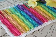 "This ""Rainbow Hook Holder"" is so cute!"