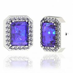 Earring in White Gold of 2.64 Carat Emerald Cut @ $2091.60