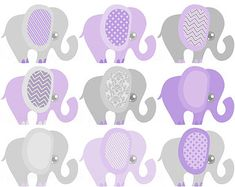 Gender Neutral Baby Clipart Elephant Baby by DigitalDollface