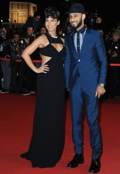 The absolutely beautiful Alicia Keys with husband Swizz Beatz at the 2013 NRJ Music Awards.