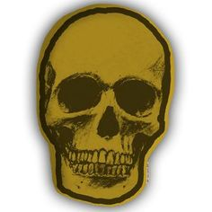 Skull Pillow Yellow now featured on Fab.