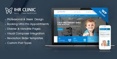 IHR Clinic - Medical and Health Care WordPress theme . IHR Clinic, a sleek and well-designed WordPress theme, will help professional clinics, dedicated doctors or medical practitioners realize any idea to set up a website serving their