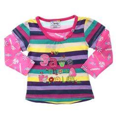 Purples-Yellow-Pink-Navy Long Sleeve Save The World Tee-AJ53303-Purple-Yellow-Pink-Navy $14.00 on Ozsale.com.au
