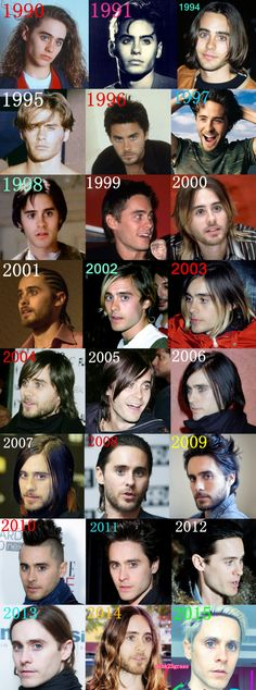 JARED LETO 1990-2015 http://pink23grass.tumblr.com