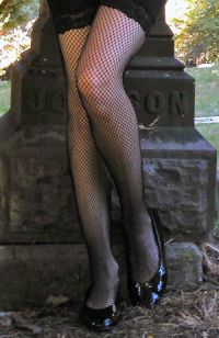 Fishnet Thigh Highs with Stay-Up Lace Top