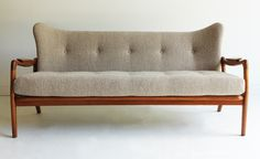 TheSwankyAbode.com : Adrian Pearsall Wing Sofa - Couch for Craft Associates - 80583