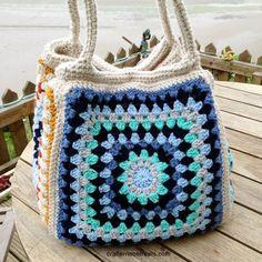 Giant seaside retro granny stash bag