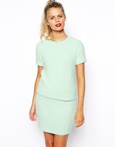 Image 1 of ASOS Co-ord T-Shirt In Fluffy Knit