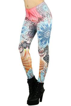 There's no hiding in our bold, colorful, and oh so fabulous Enlightened Leggings. Covered in mandalas, decorative patters, and gorgeous hues of coral, blue, and orange, this leg fashion piece is going to set the bar high for the rest of your wardrobe. You'll surely be the center of attention wherever you go with this stand out style, not to mention feeling oh so comfy in this luxurious and high quality soft polyester blend fabric. #luxurywardrobe