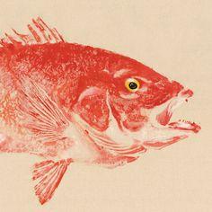 GULF RED SNAPPER Gyotaku Fish Print by LGDunston on Etsy, $336.00