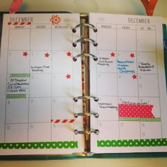 Filofax Personal Size Month on 2 pages  2014 by LynettesFiloShop, $5.00
