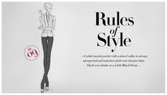 A white tuxedo jacket is always unexpected and feels dressier than black over denim or an LBD. #RulesofStyle