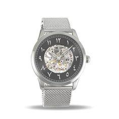 9660d53f99f414 Montre Squelette Homme Femme Mecanique Acier Bracelet Mesh Davis 2170 Davis  Men s and Women s Skeleton Wristwatch