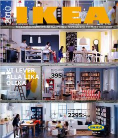 IKEA Catalogs from the past to the present, in fact, reveals the direction of decoration trends. Catalogue Ikea, Product Catalogue, Ikea Inspiration, Catalog Cover, Swedish Brands, Catalog Design, Love Your Home, Furniture Covers, Ikea Hacks