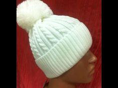 Женская зимняя шапка+мастер класс+полное описание.Мастер класс шапка.Шапка спицами +с описанием - YouTube