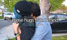 Surprise Hugs From Behind
