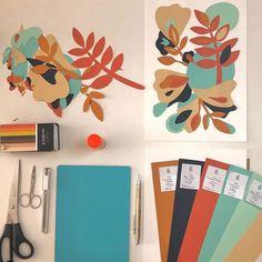 Colagens na parede por Belca: conheça a artista visual Paper Crafts, Live, Instagram, Creative Area, Creativity, Collage, Diy Home, Tutorials, Wall