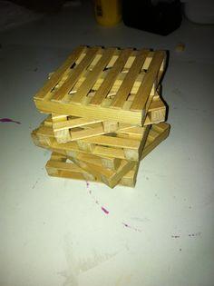 Mini pallet onderzetters