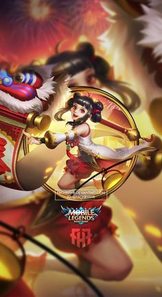 Wallpaper Phone Lolita Lion Dance by FachriFHR on DeviantArt Miya Mobile Legends, Mobile Legend Wallpaper, Lion Dance, Feature Wallpaper, Hanabi, King Of Fighters, Bang Bang, Female Characters, Black Backgrounds