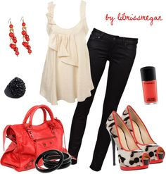 """""""Red Hot"""" by lilmissmegan on Polyvore"""