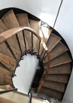 I have loved spiral staircases since I saw one in a Catholic church in Texas, made without a single nail.