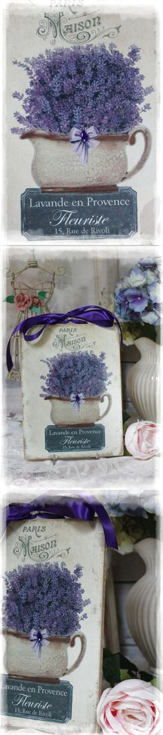 "~ ""Lavande en Provence "" ~Shabby Chic~Country Cottage style~Wall Decor Sign ~ $16.28"
