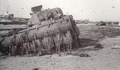 Un Sherman Fléau (Sherman crab) de la 79ème Armoured Division des Westminster dragoons mis hors de combat sur gold beach le 7 Juin 1944.
