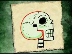 Drawing a Skull with the letter G - YouTube