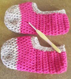 Haak en Hekel Hennetjie: Maklike Slippers vir sommer so - gratis patroon