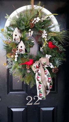 Large Grapevine Wreath Rustic Wreath Farmhouse Wreath Country Love this cute winter wreath for the front porch, door or patio. Perfect for after Christmas. Christmas Porch, Outdoor Christmas Decorations, Christmas Crafts, Grapevine Christmas, Winter Porch, Winter Diy, Winter Ideas, Diy Wreath, Grapevine Wreath