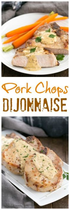 Pork Chops Dijonnaise   Incredibly delicious pan seared chops with a creamy mustard sauce