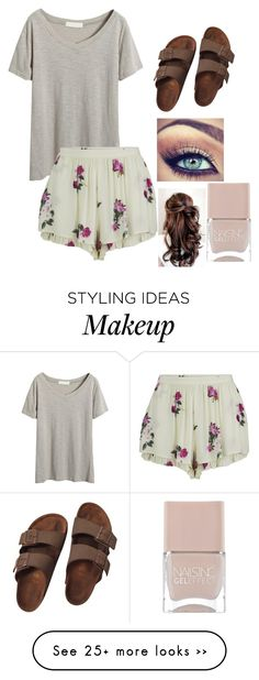 """Untitled #96"" by sunnybrown on Polyvore featuring MINKPINK, Birkenstock and Nails Inc."
