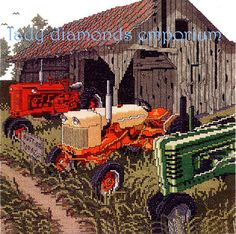 Auction Day, Counted Cross Stitch Kit, Tractors John Deere Country Decor Farm Ranch Farmer Janlynn Stoney Creek New in Pack Great Gift Idea Cross Stitch Fabric, Cross Stitching, Cross Stitch Embroidery, Embroidery Store, Hand Embroidery Patterns, Embroidery Thread, Counted Cross Stitch Patterns, Cross Stitch Charts, Cross Stitch Landscape