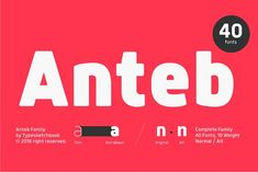 Anteb Font by Typesketchbook Foundry on @creativemarket