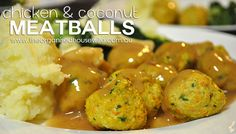 It is a Thermomix recipe but easy enough to change - Chicken Coconut Curry Meatballs Vegetable Recipes, Chicken Recipes, Curry Stew, Cooking Recipes, Healthy Recipes, Coconut Curry, Savory Snacks, Kid Friendly Meals, Organised Housewife