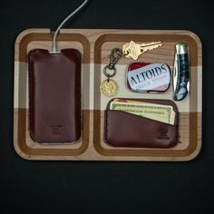 Maxx & Unicorn Walnut or Cherry Wood Valet Tray at The Lodge