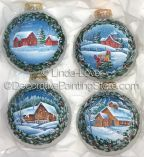 Winter on Glass Ornaments Pattern PDF DOWNLOAD - by Linda Lover