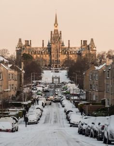 Richard Tynan took this photo of Fettes College in Edinburgh as the sun came up