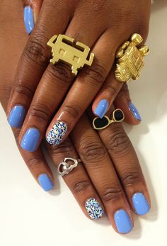This is a fun & chic way to style your nails.