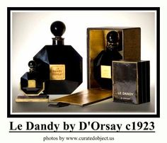 Le Dandy by D'Orsay: launched in black glass octagonal bottle w/ round stopper, designed by Sue et Mare. Available in various sizes. Black Perfume, Vanity Design, Vintage Perfume Bottles, Bottle Art, Black Glass, Vintage Black, Crystals, Boudoir, Dandy