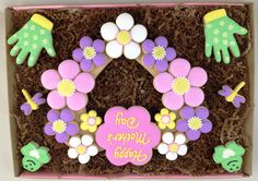 Mother's Day Flower Heart Wreath Cookie Gift Box