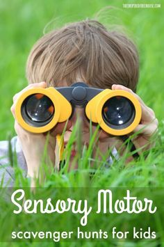 The Inspired Treehouse - Sensory Motor Scavenger Hunts for Kids